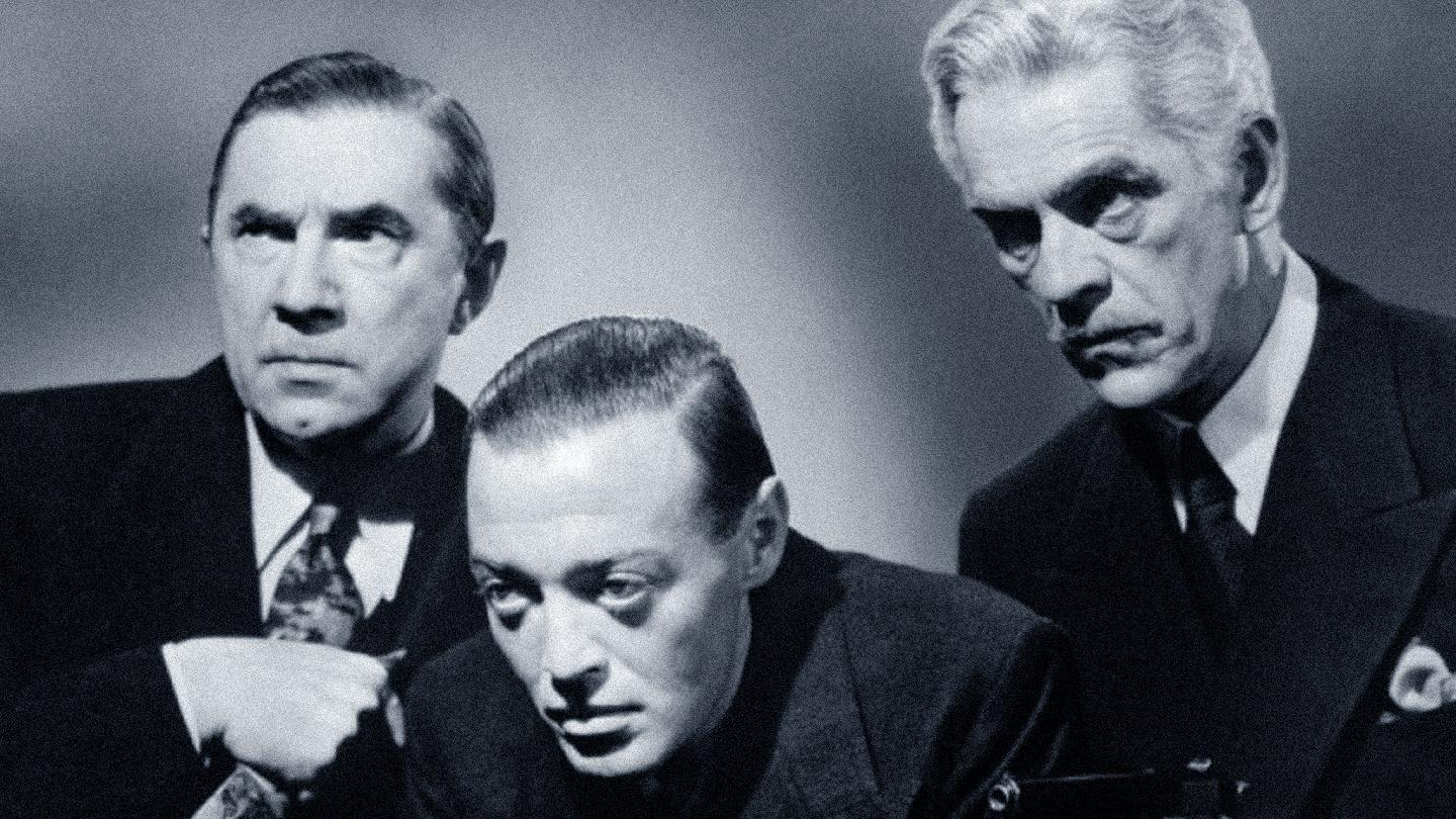 Bela Lugosi, Peter Lorre and Boris Karloff in You'll Find Out (1940)