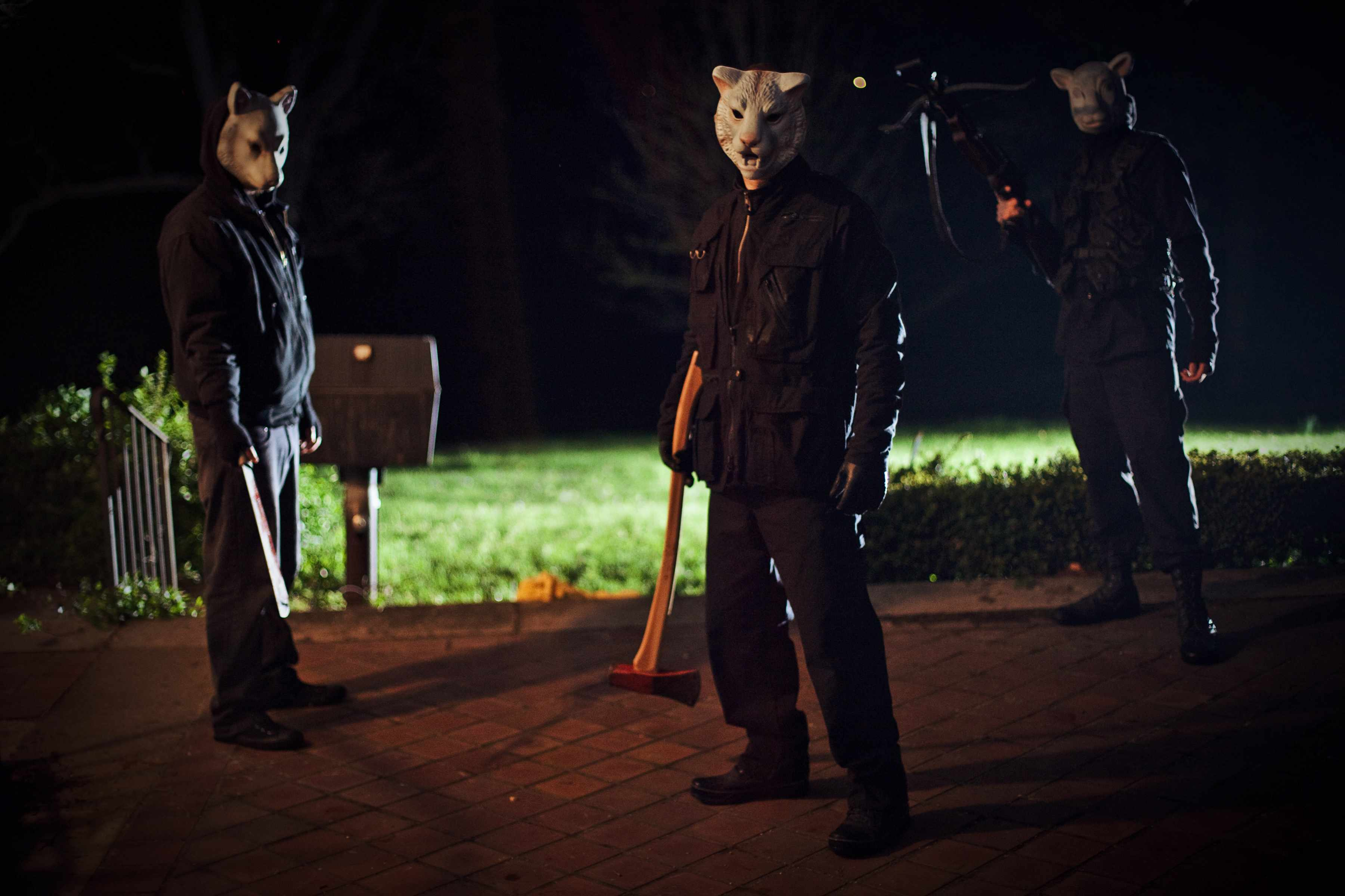 The masked assailants in You're Next (2011)