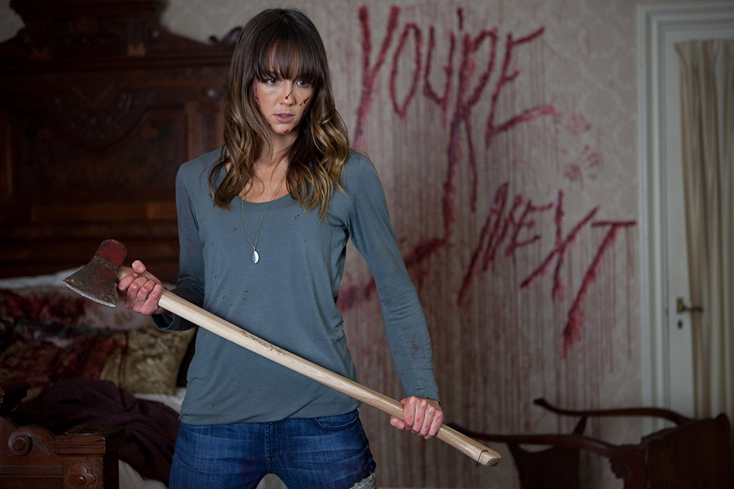 Sharni Vinson wields an axe in You're Next (2011)