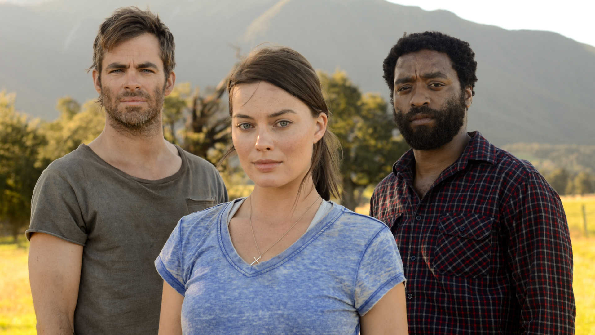 Caleb (Chris Pine), Ann Burden (Margot Robbie) and John Loomis (Chiwetel Ejiofor) in Z for Zachariah (2015)