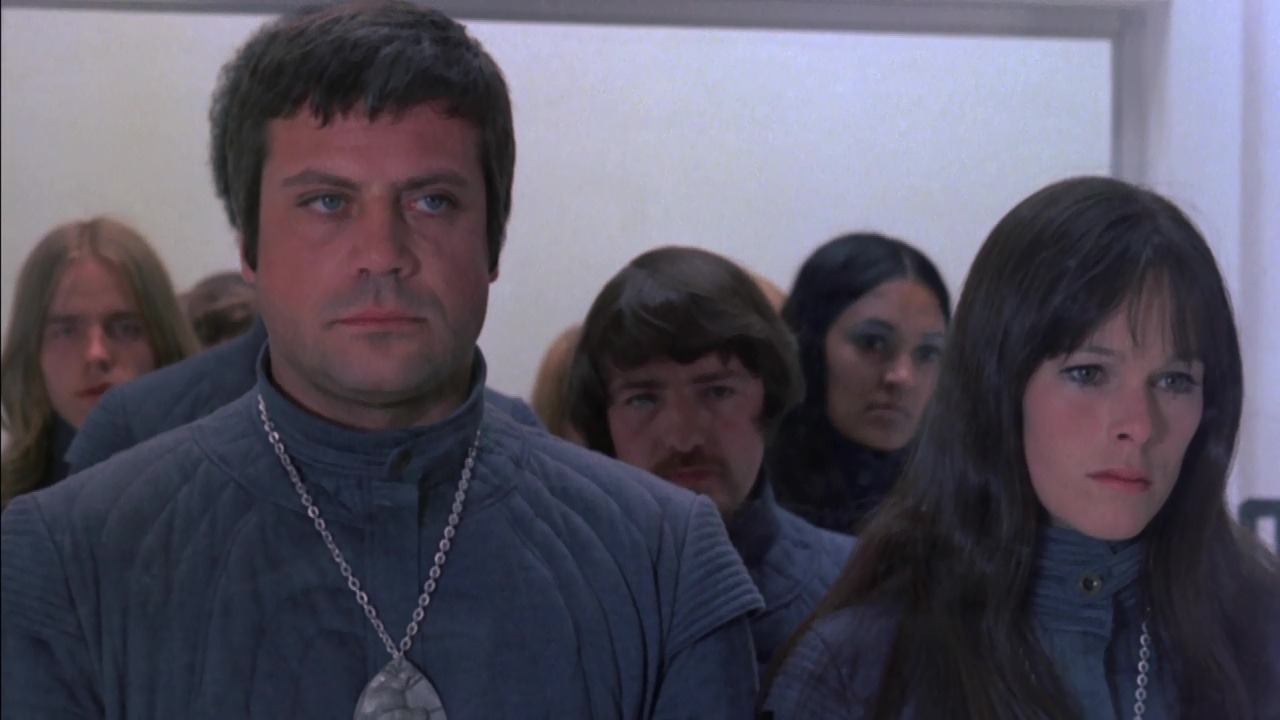 Oliver reed and Geraldine Chaplin - a pregnant couple in a future where childbirth is outlawed in Z.P.G. (Zero Population Growth) (1972)