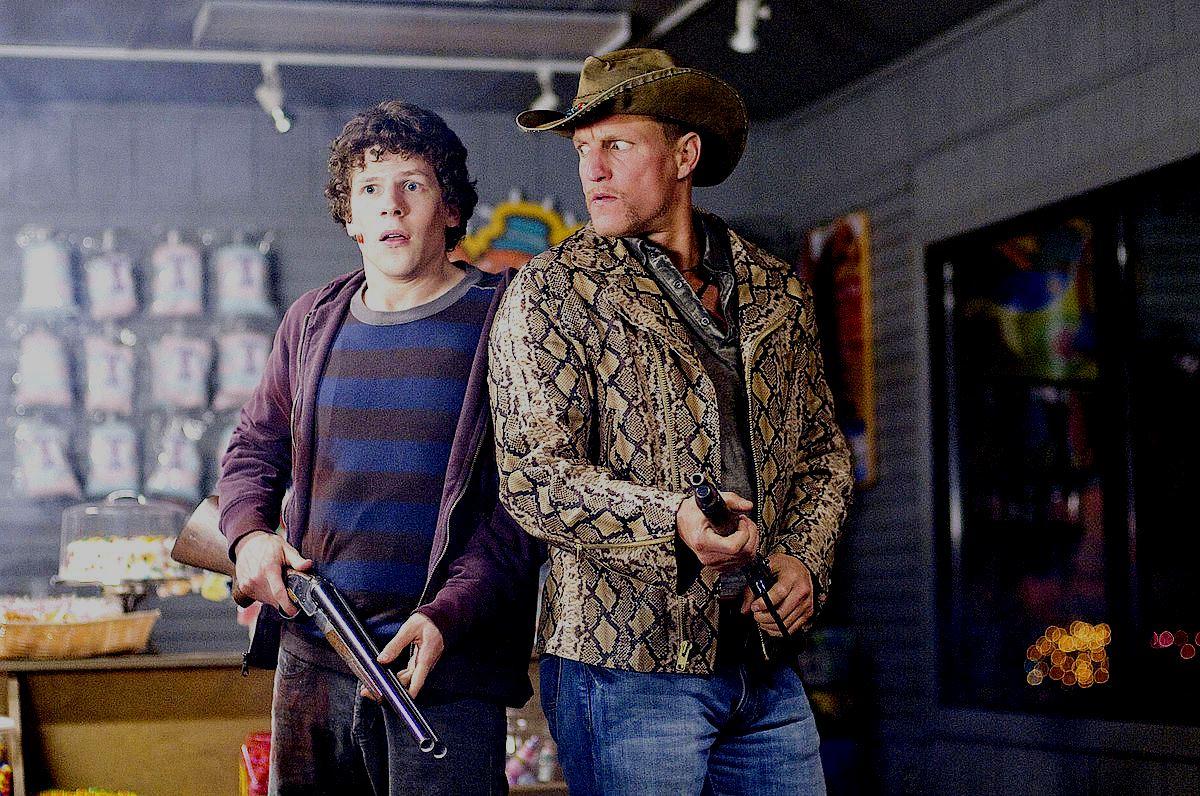 Jesse Eisenberg, Woody Harrelson in Zombieland (2009)