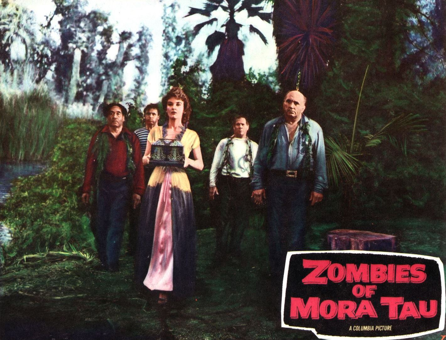 Lobby card from Zombies of Mora Tau (1957)