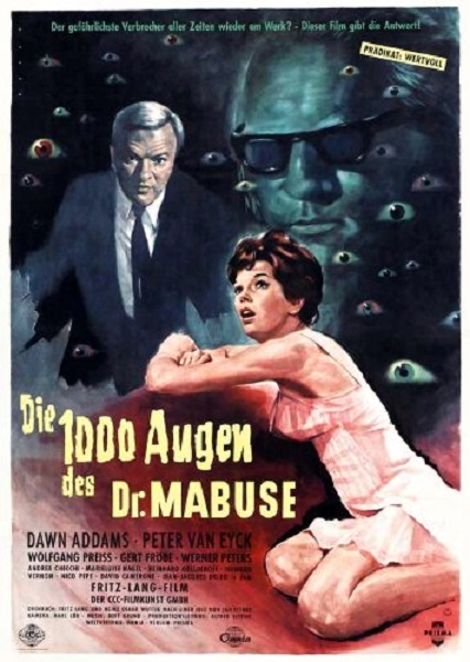 The 1000 Eyes of Dr. Mabuse (1960) poster