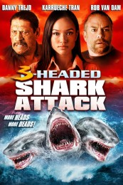 3 Headed Shark Attack (2015) poster