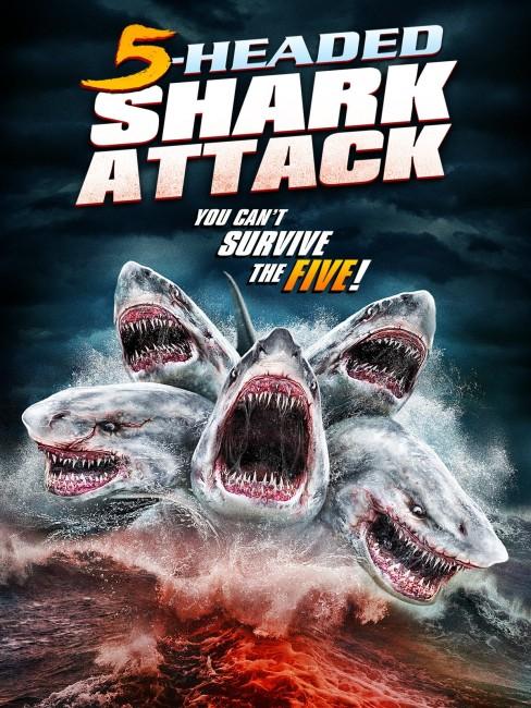 5 Headed Shark Attack (2017) poster