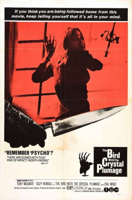 The Bird with the Crystal Plumage (1970) poster
