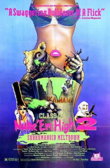 Class of Nuke 'Em High Part II: Subhumanoid Meltdown (1991) poster