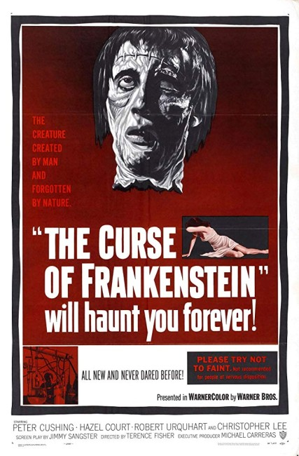 The Curse of Frankenstein (1957) poster