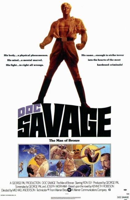 Doc Savage –The Man of Bronze (1975) poster