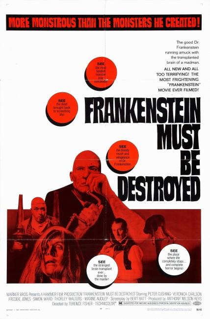 Frankenstein Must Be Destroyed (1969) poster