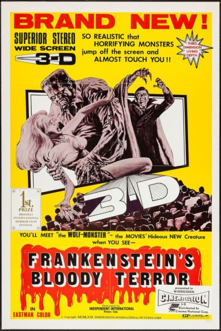 Frankenstein's Bloody Terror (1968) poster