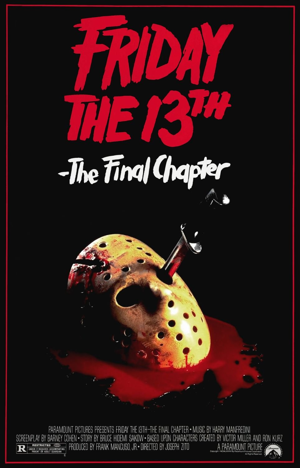 Friday the 13th: The Final Chapter (1984) poster