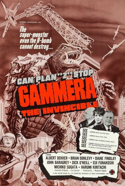Gammera the Invincible (1965) poster
