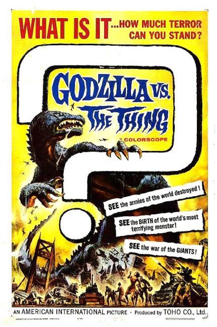 Godzilla vs the Thing (1964) poster