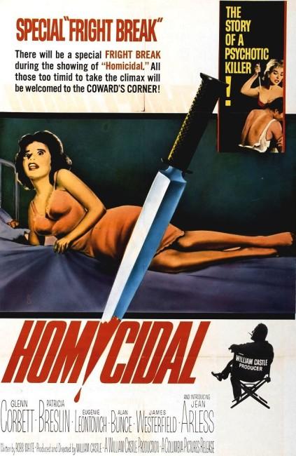 Homicidal (1961) poster