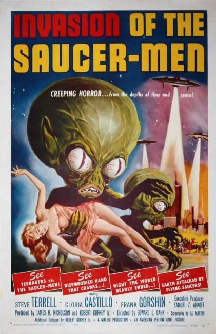 Invasion of the Saucer Men (1957) poster
