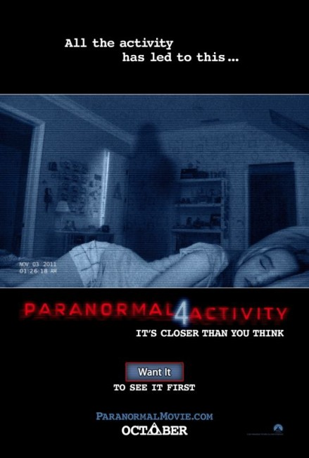Paranormal Activity 4 (2012) poster