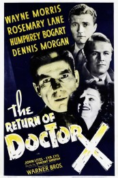 The Return of Dr X (1939) poster