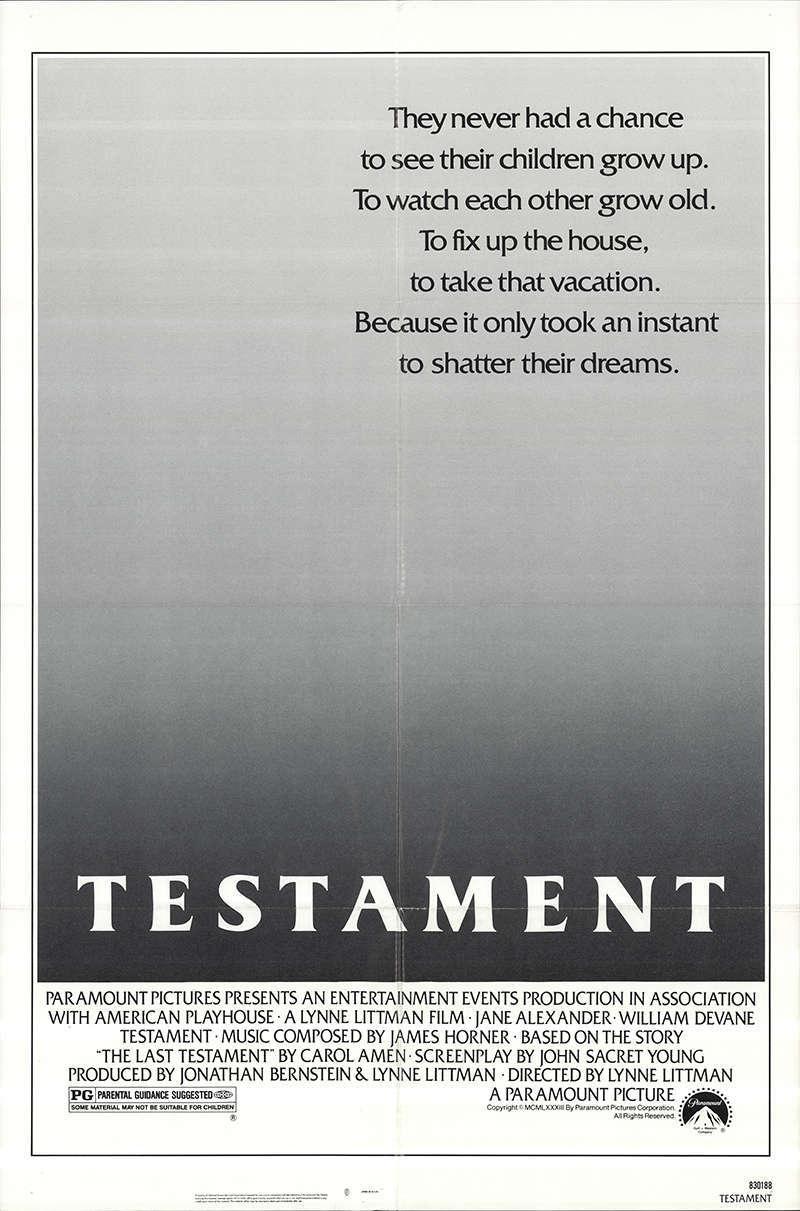 Testament (1983) poster